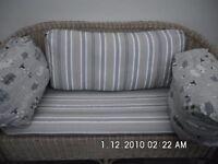 2 Seater Wicker Settee