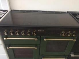 Green rang master 110cm gas cooker grill & double fan assisted ovens with guarantee