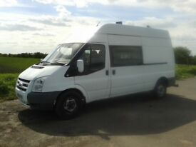 58reg FORD T350 2.4TDCI LWV HI-TOP WELFARE/MESS VAN WITH TOILET