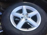 "4x Brand New Genuine VW Tiguan 16"" alloy wheels +NEW Pirelli 215/65/16 winter tyres 5x112 CAN POST"