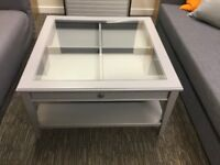 Nearly new - Grouped Furniture. Sofa bed, 2 seater and table. Office move forced sale. Collect only.