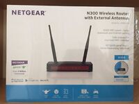 99% Excellent Condition - NETGEAR N300 - Wireless Router with External Antennas