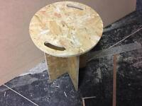 Wooden workshop stool 24""
