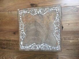Medium size wooden box.