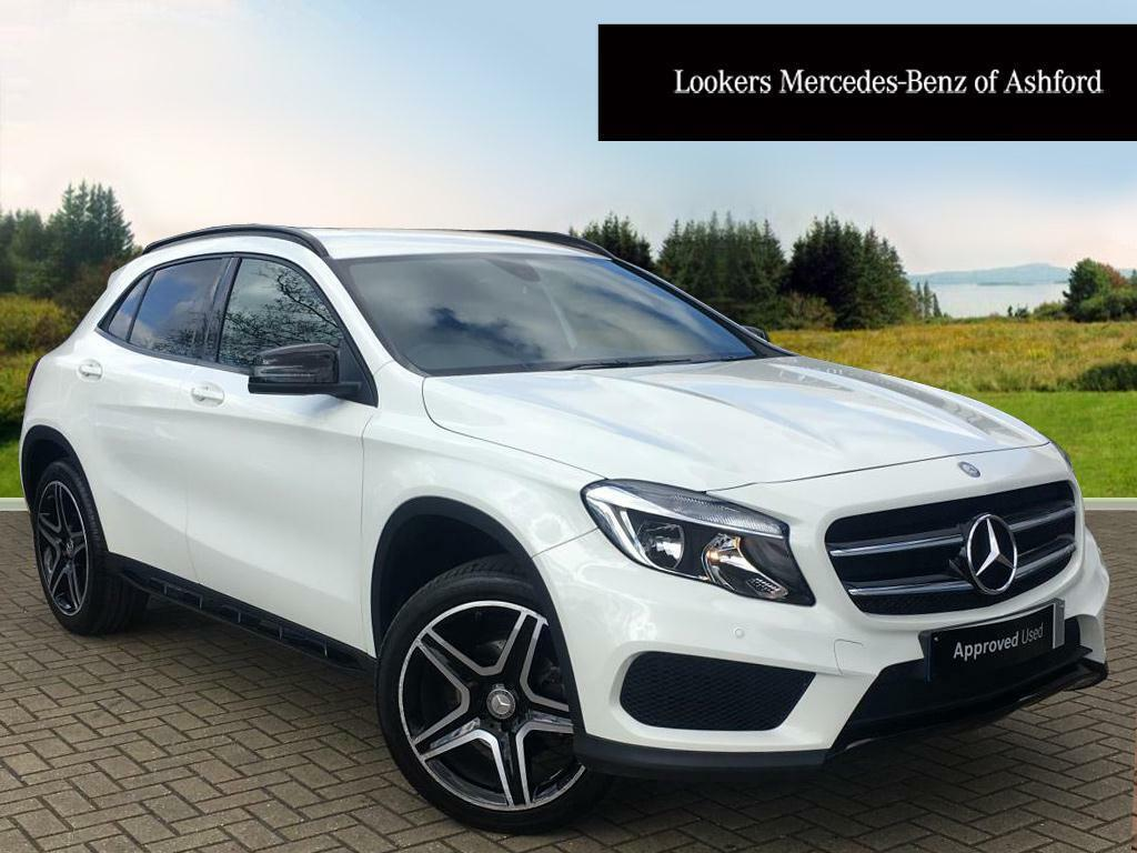 mercedes benz gla class gla 200 d amg line white 2015 11. Black Bedroom Furniture Sets. Home Design Ideas