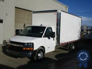 2016 Chevrolet Express 4500 - 16ft Van Body - Cargo to Cab Door