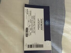 John Mayer London o2 ticket for sale