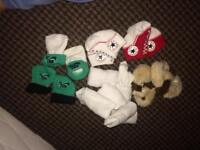 Baby socks and puppy slippers