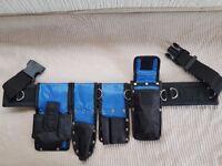 Scaffolding Blue Ballistic Naylon Tools Belt Adjustable Waist 5PCS Quality Set