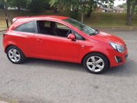 vauxhall corsa 12 sxi 2012 3dr in red 27k