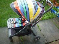 Mamas &Papas luxury pram, folded with sleeping bag