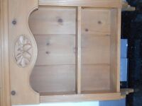 Pine wall display unit