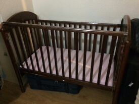 Cot bed with mattress in good condition...