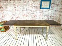 Pine Dining Table / Extending Table - Any Sizes Any Farrow & Ball Rustic Finish Farmhouse