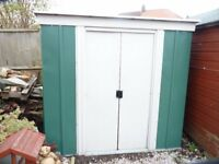 6 X 4 GALVANISED GARDEN SHED, GOOD CONDITION, BUYER DISMANTLES, £80