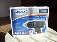 Draper Expert Composite Body Air Impact Wrench - New. Less than half price