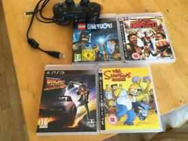 Ps3 Games x 4....Dual Shock 3 Controller