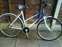LADIES RALEIGH PIONEER CLASSIC, TOWN BIKE, ,700 ALLOY WHEELS, GOOD TYRES MUDGAURDS,