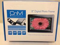 CnM Lifestyle Electronics 8 inch Digital Photo Frame Unused As New In Box