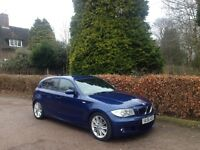 2007 BMW 118D M SPORT LE MANS BLUE CREAM LEATHER NATIONWIDE DELIVERY WARRANTY & CARD FACILITY