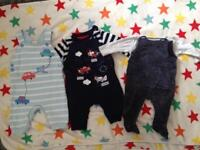 3 dungarees boots , George 0-3 months