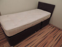 Single Electric quality bed frame with mattress Remote contr (Delivery)