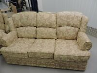 3 Seater and 2 x Single Seater Floral Pattern Sofas