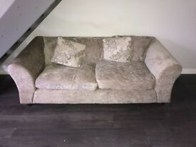 2 and 3 seater mink sofa