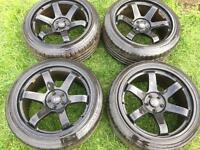 Rota Grid Drift Alloy Wheels 18inch 5x100 Golf Leon BORA A3 TT Stance