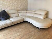 ****Cream leather corner sofa****