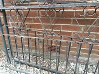 Used two piece wrought iron gates for sale, to be collected .welcome offers