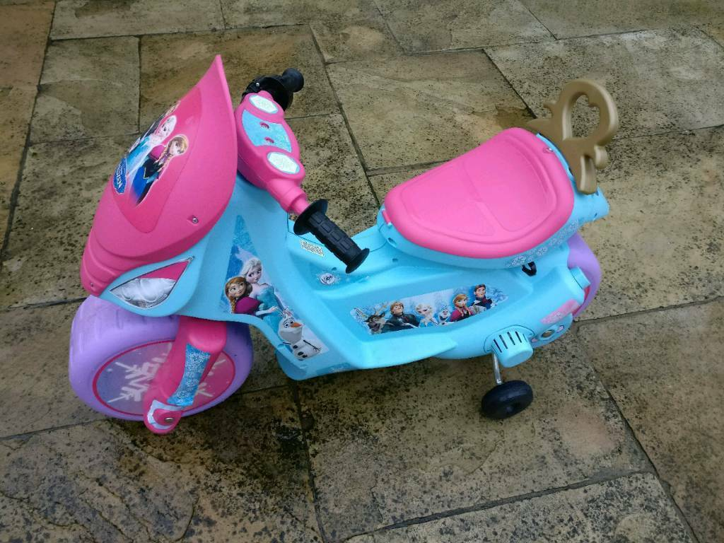 Injusa 6v Electric Frozen Kids Bike, Xmas gift idea