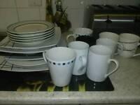 Free mugs and plates