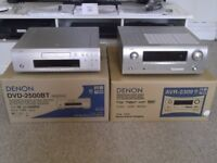 DENON AVR-2309 and DVD-2500BT top quality multi-zone home cinema system - mint condition