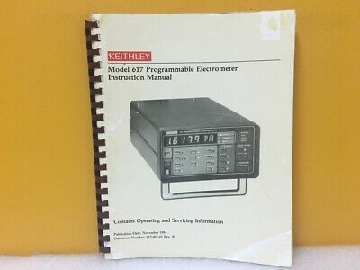 Keithley 617-901-01 617 Programmable Electrometer Instruction Manual