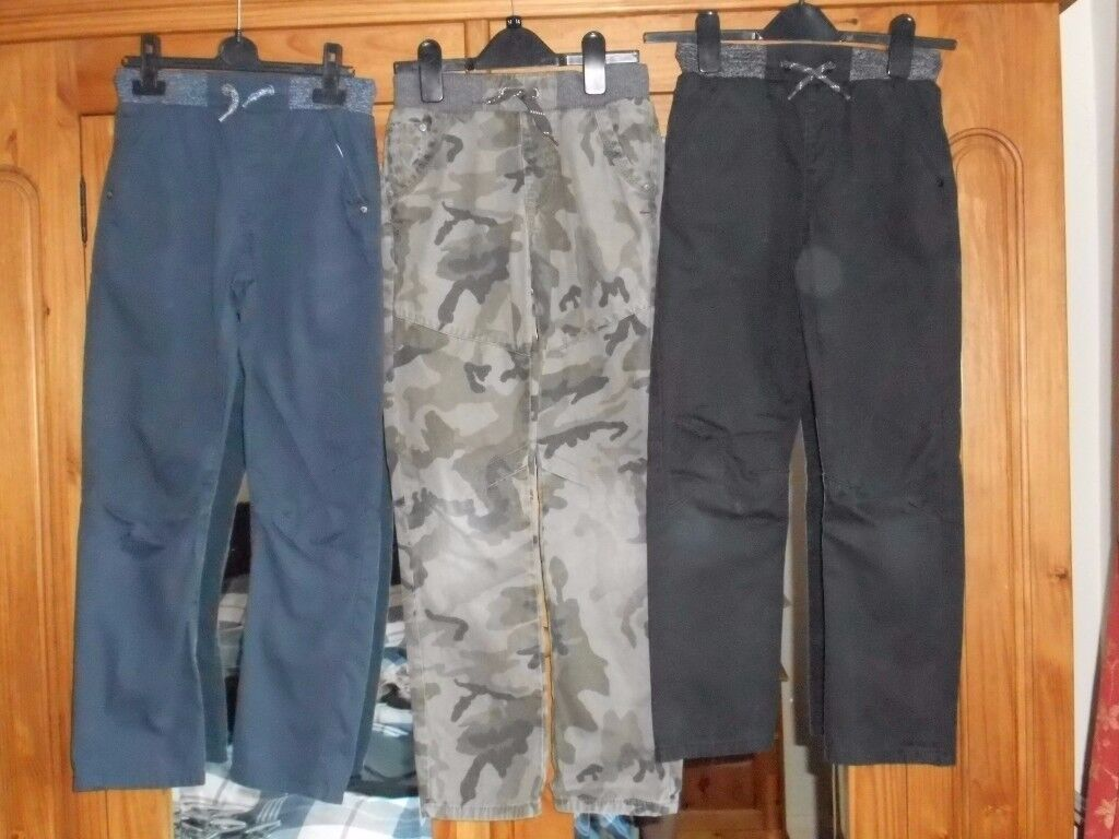 Three Pairs of GEORGE at Asda Trousers Age 9-10 Years GC - cash on collection from Gosport Hampshire
