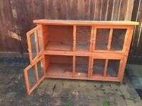 Large 2 storey rabbit hutch