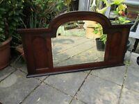 antique mirror deco look in wallnut frame