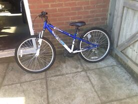 Blue bike. In a good condition .