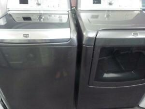 41-  Laveuse Sécheuse MAYTAG BRAVOS XL GRIS FONCÉ / DARK GREY  Washer Dryer
