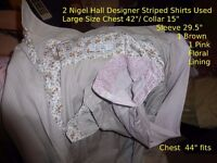 Men's Gent's / ladies Shirts 5 L Size inc Nigel Hall TM Lewin