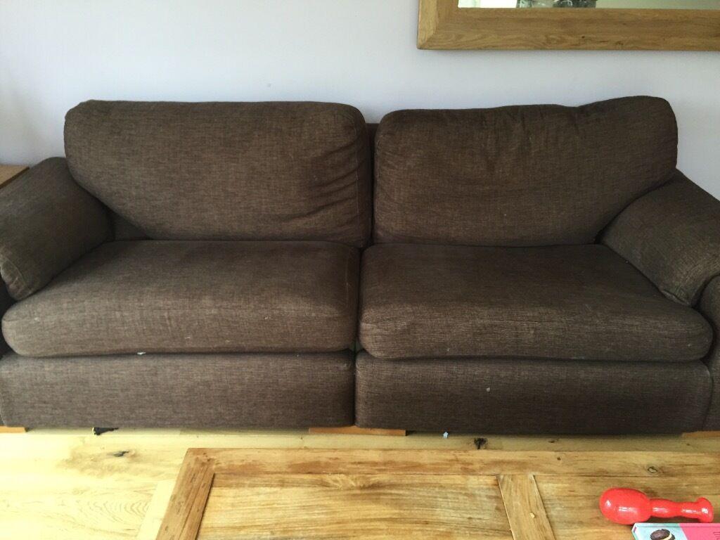 4 seater brown sofa