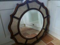 Beautiful mahogany mirror from potburys of sidmouth