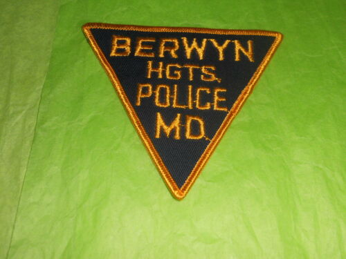 Berwyn Heights Maryland Triangle Police Patch - Vintage Early 1950