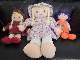 Three Very Pretty Rag Dolls