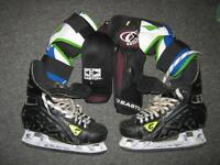 Hockey equipment - elbow pads Mission $8 &Easton Senior $6