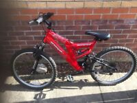 Mountain Bike Red Fits 12-14 year old