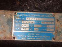 70kVA Lister & co diesel generator