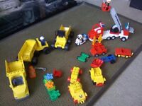 Duplo lego - large mixed bundle, includes fire truck and police bike and more