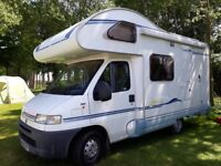 Motorhome Ace Torino. 4 Berth Fiat Ducato. Lovely clean condition